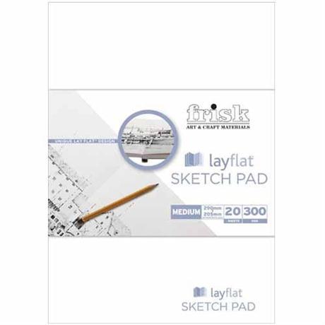 Frisk Layflat Sketch Pads 300gsm Image 1