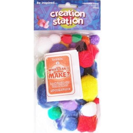 Creation Station Coloured Poms Image 1