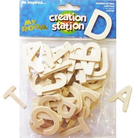 Creation Station Capital Wooden Letters Image 1