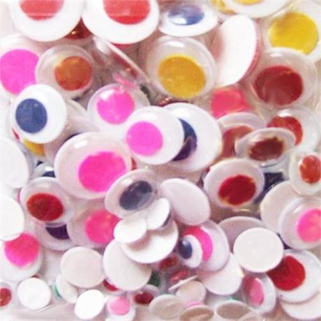Medium Pack Of Peel & Stick Coloured Wiggle Eyes Image 1