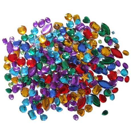 Acrylic Gemstones, Assorted  (Approx 400) Image 1