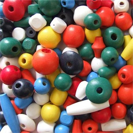 Wooden Craft Beads, 18 to 30mm. Image 1