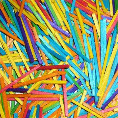 Pack Of Coloured Matchsticks Image 1