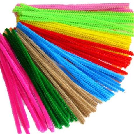 Pack of Coloured Pipe Cleaners 300mm Long Image 1