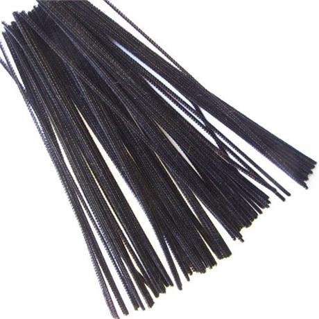 Value Pack of Long Black Pipe Cleaners Image 1
