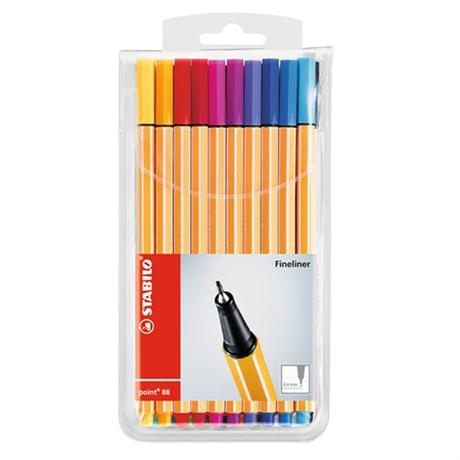 STABILO Point 88 Fineliners - Wallet Of 20 Image 1