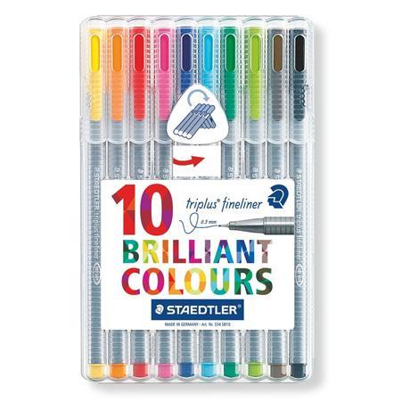 Staedtler Triplus Fineliner Box Of 10 Pens