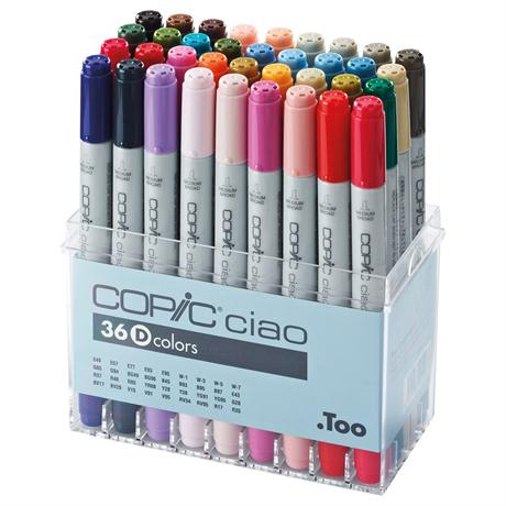 Copic Ciao Marker Set of 36 - Set D Image 1
