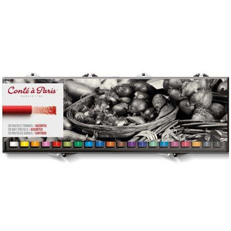 Conte Soft Pastels Assorted Set of 20 Image 1