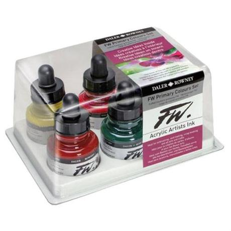 Daler Rowney FW Ink Primary Colours 6 Set Image 1