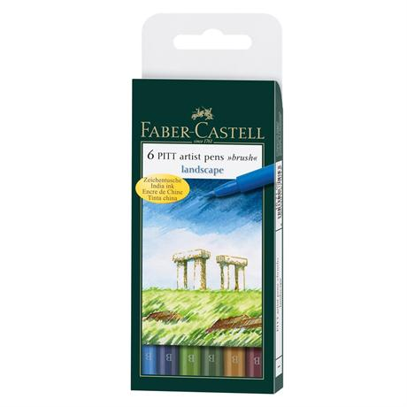 Pitt Artists' Brush Pen Wallet - Landscape Set Image 1