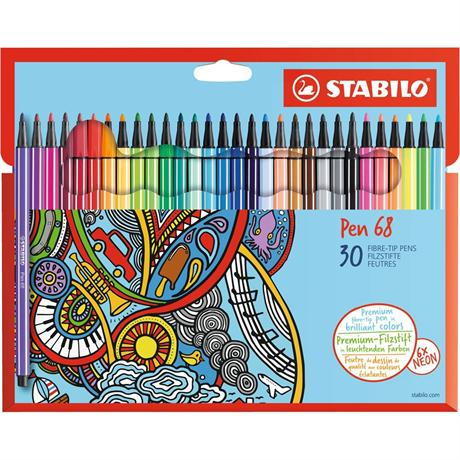 Stabilo Pen 68 Card Wallet of 30 Image 1