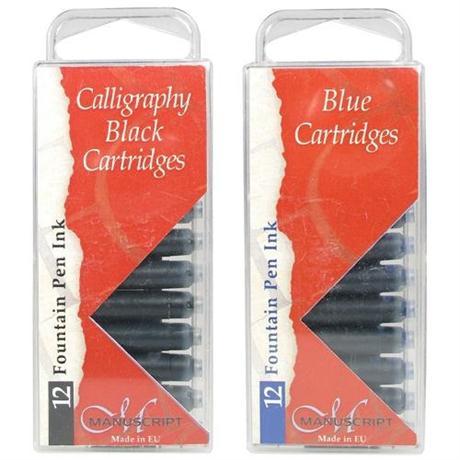 Manuscript Ink Cartridges Pack Of 12 Image 1