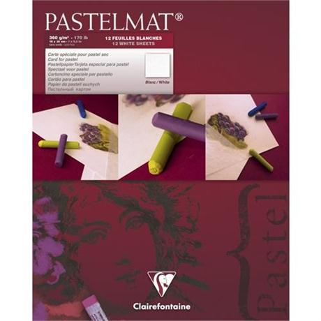 Clairefontaine Pastelmat Pad 12 Sheets Of WHITE Image 1
