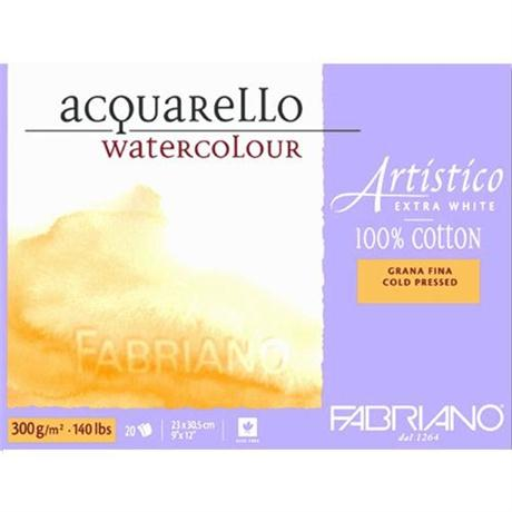 Fabriano Artistico Water Colour Block Extra White 140lbs 'NOT' Image 1