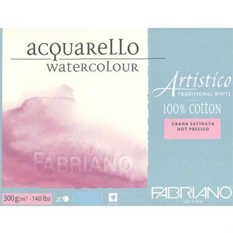 Fabriano Artistico Water Colour Block Traditional White 140lbs 'HP' Image 1