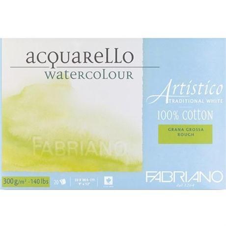 Fabriano Artistico Water Colour Blocks Traditional White 140lbs Rough Image 1