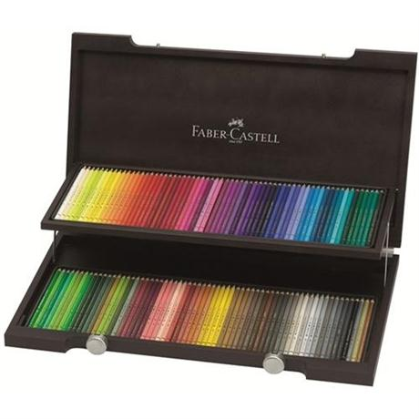 Faber Castell Polychromos Pencils - Wooden Case of 120 Image 1