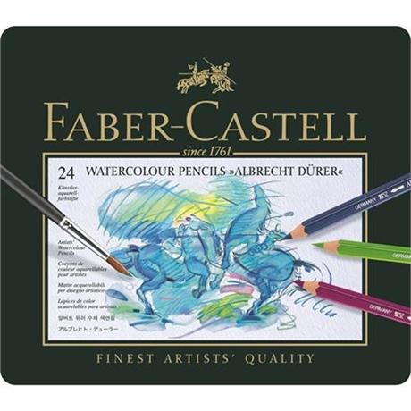 Albrecht Durer Water Colour Pencils Tin of 24 Image 1