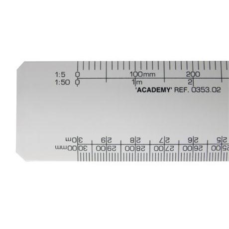 Academy Flat Scale Rules Image 1