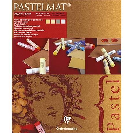 Clairefontaine Pastelmat Pad - Maize, Buttercup, Light Grey, Dark Grey Image 1