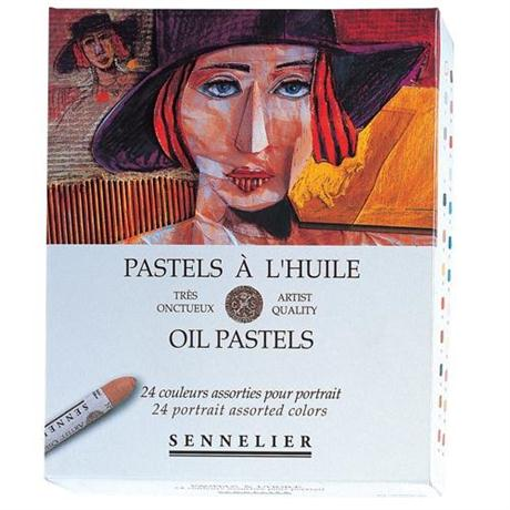 Sennelier Oil Pastels 24 Portrait Assorted Colours Image 1