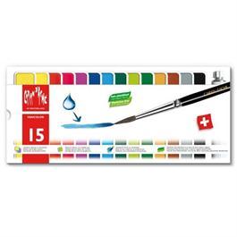 Caran d'Ache Fancolor Box of 15 Water Based Gouache Paints thumbnail