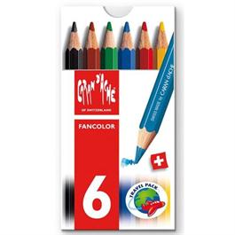 Caran d'Ache Fancolor Box of 6 Water Soluble Mini Colour Pencils thumbnail