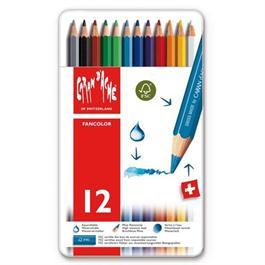 Caran d'Ache Fancolor Tin of 12 Water Soluble Colour Pencils thumbnail