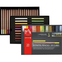 Caran d'Ache Landscape Set - 20 Pastel Pencils & 20 Pastel Cubes thumbnail
