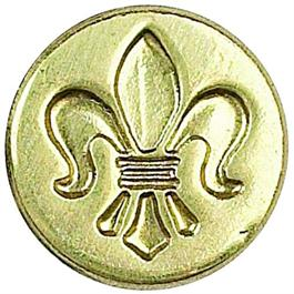 Manuscript Classic Design Seal- Fleur De Lys thumbnail