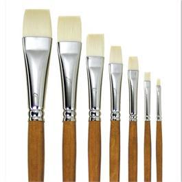 Pullingers Artists Value Ivory-Taklon Brush Short Flat thumbnail