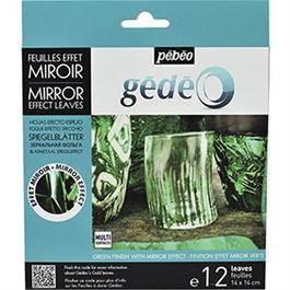 Gedeo Mirror Effect Metal Leaf - GREEN Thumbnail Image 0