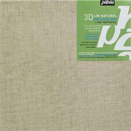 Pebeo 3D Natural Linen Canvas 20 x 20cm thumbnail