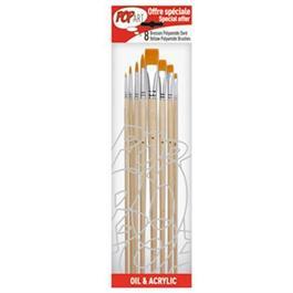 Pebeo Set of 8 Yellow Polyamide Brushes thumbnail