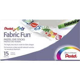 Pentel Fabric Fun Pastel Set 15 Colours thumbnail