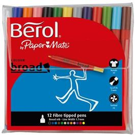 Berol Colour Broad Pens Wallet Of 12 thumbnail