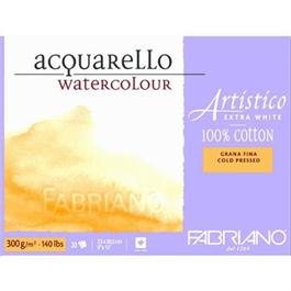 Fabriano Artistico Block 12x18in 140lbs 'NOT' 20 Sheets Extra White thumbnail