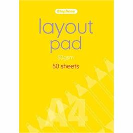 Stephens Layout Pad A4 50gsm 50 Sheets thumbnail