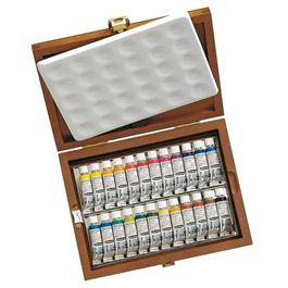 Schmincke HORADAM Watercolour Wooden Box Set 24 x 5ml Tubes thumbnail