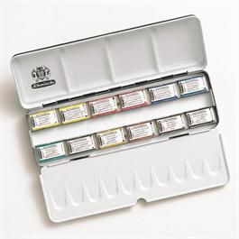 Schmincke HORADAM Watercolour Metal Set 12 x Whole Pans thumbnail
