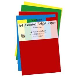 A4 Assorted Bright Colours Paper Pack 80gsm thumbnail