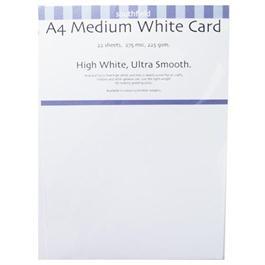 A4 225gsm Medium White Card Pack thumbnail