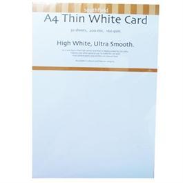 A4 160gsm Thin White Card Pack thumbnail
