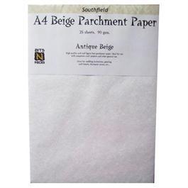 A4 Parchment Card Antique Beige 20 Sheets 170gsm thumbnail