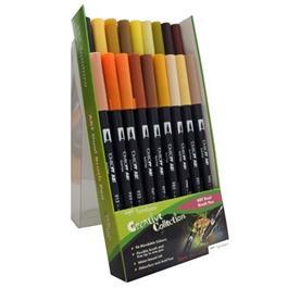 Tombow Dual Brush Pen Set of 18 - Earth Thumbnail Image 1