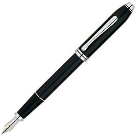 Cross Townsend Fountain Pen Black Lacquer with Rhodium Appointments thumbnail