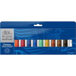 Cotman Watercolour 12 Tube Set thumbnail