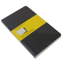 Moleskine Squared Cahier Large - Black (Set of 3) Journal Notebook Thumbnail Image 1