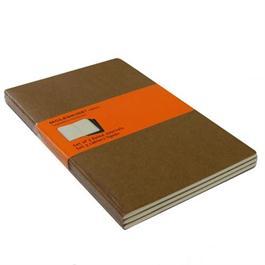 Moleskine Ruled Cahier Large - Kraft (Set of 3) Journal Notebook Thumbnail Image 1